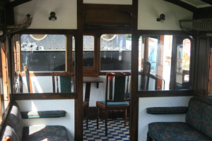 Interior of GER coach No. 14's guard compartment
