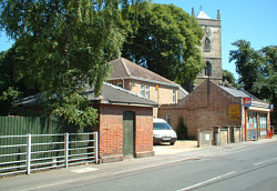 Outwell Goods Office (fgnd) and St. Clements Church (c.Rudi Newman)