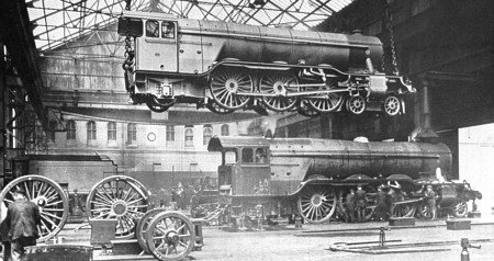 A1 Pacifics being constructed at Doncaster Works (M.Peirson)