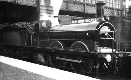 GNR 0-4-2 No. 42 at New Southgate (M.Peirson)