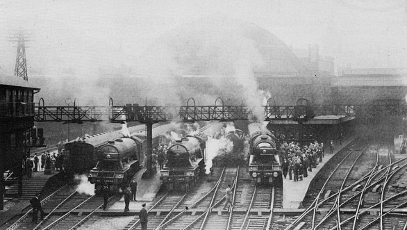 Gresley A1 and A3 Pacifics 'chomping at the bit' - a common morning scene during the 1920s and 1930s