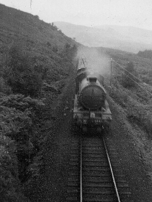 Glen Falloch, approaching Ardlui on the West Highland Line in the 1950s (J.Pattison)