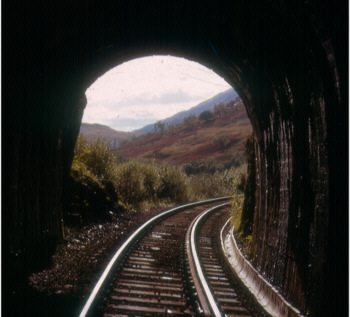 The only original tunnel on the Tarbet-Ardlu section of the West Highland Line (J.Pattison)
