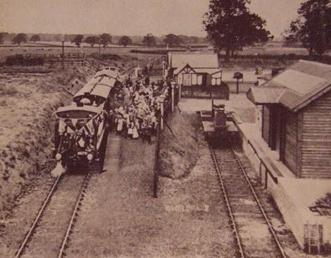 The Derwent Valley Light Railway's opening day in 1913
