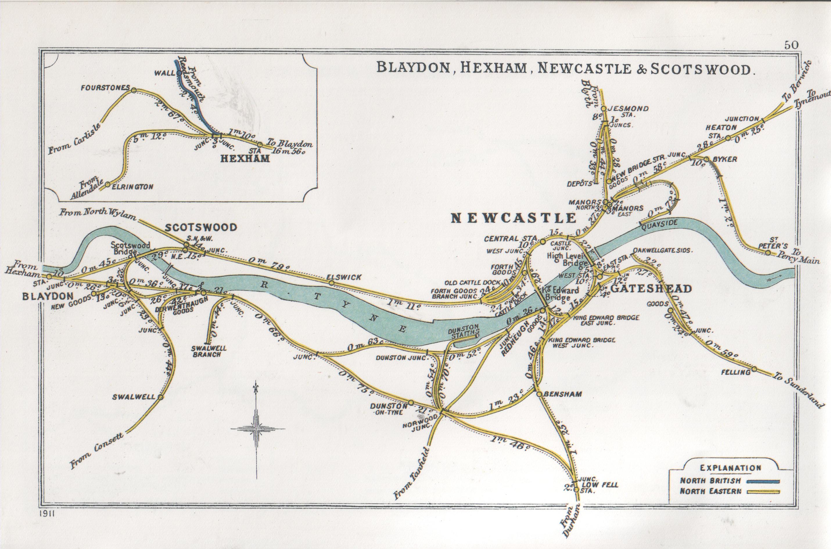 Lner Encyclopedia  The North Eastern Railway  Bridges Around Newcastle