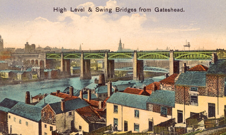 The Newcastle High Level and Swing Bridges