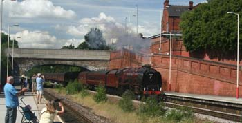 Duchess of Sutherland passing through Crossgates, 2007