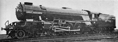 Class A1/1 No. 4470 Great Northern, September 1945 with no smoke deflectors