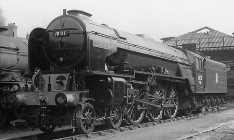 Peppercorn A1 BR No. 60121 'Silurian' at Doncaster in 1957 (PH.Groom)