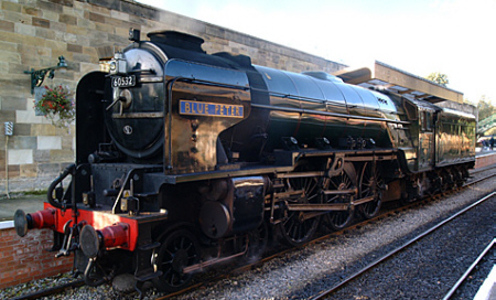 Peppercorn A2 No. 60532 'Blue Peter', at Pickering on the North Yorkshire Moors Railway (Geoff Byman FRPS)