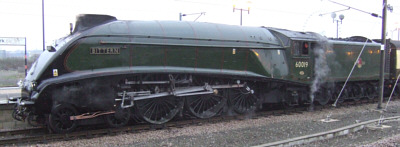 A4 No. 60019 'Bittern' as York in December 2007 (M. Turner)