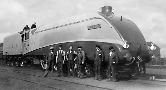 Gresley A4 Pacific No. 2509 'Silver Link' fresh out of the Doncaster paint shop in 1935 (J.Bridges)