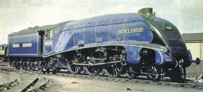 A4 No. 60028 'Walter K. Whigham' in early BR Blue livery (M.Peirson)