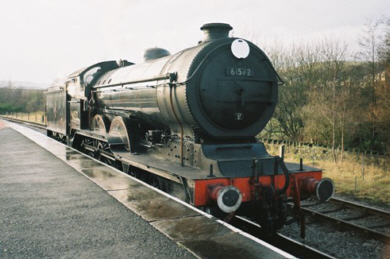 Preserved Holden B12 No. 8572 (BR No. 61572), on the East Lancashire Railway