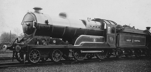 Class D11 'Improved Director' GCR No. 506 Butler-Henderson at Gorton in 1920 (M.Peirson)