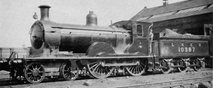 D28 No. 10387 at Haymarket Shed in 1926