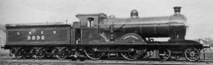 D29/1 No. 9896 'Dandie Dinmont' with saturated boiler, at Eastfield in 1928