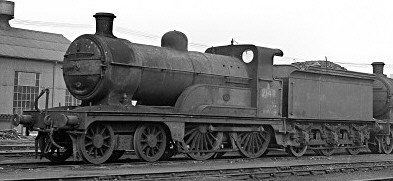 Ivatt Class D3 No. E2140 at Doncaster in 1950 (M.Morant)