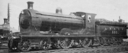 Saturated D32/1 No. 886 at Haymarket in 1924