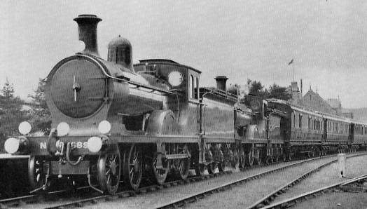 D40 No. 6850 Hatton Castle and No. 6846 Benachie with the Royal Train at Ballater in August 1928
