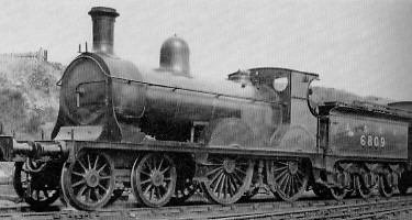 D42 No. 6809 at Kittybrewster in about 1928