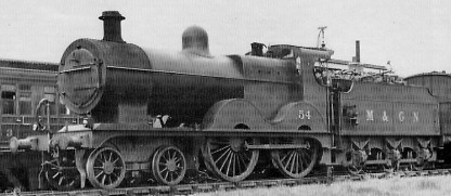 M&GN Class D54 No. 54 at South Lynn in 1936