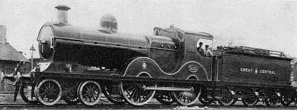 GCR Class D9 No. 1031 at York in about 1914, with saturated boiler