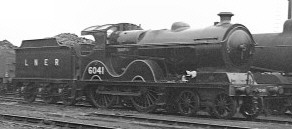Newly-modified D9/2 No. 6041 at Gorton in 1937 (M.Morant)