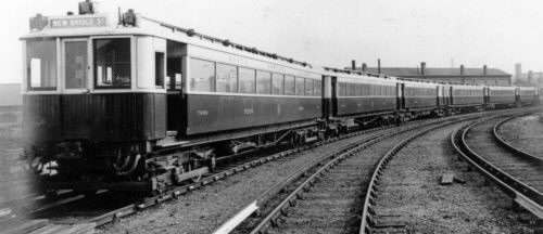 Original NER 1904 stock in original condition at Heaton in April 1904; Bill Donald Collection.