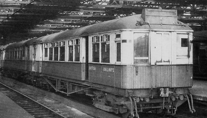 Refurbished 1920 stock at Newcastle in 1950