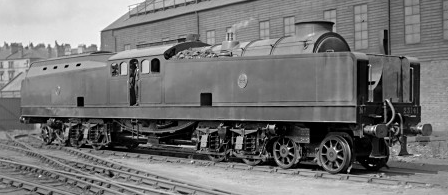 Reid-MacLeod Steam Turbine Locomotive No. 23141 at Springburn on 3rd August 1926 (M.Morant)