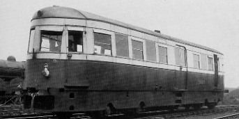 Armstrong Whitworth rail bus in blue and cream livery