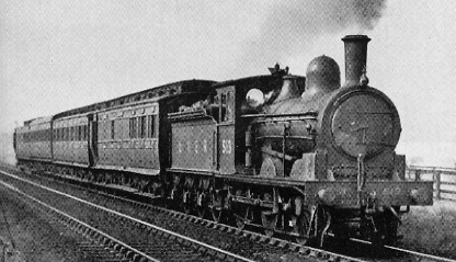 J21 No. 513 hauling a passenger local service near Durham in 1937