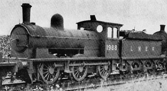 J25 No. 1988 at Darlington in 1937, with Diagram 67 superheated boiler