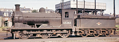 J36 'Maude' No. 65243 at Bathgate in 1964 (M.Morant)