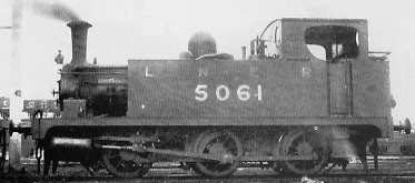 J63 No. 5061 with condensing gear, at Immingham