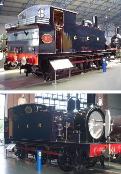 J69 Holden Tank GER No. 87 at the National Railway Museum