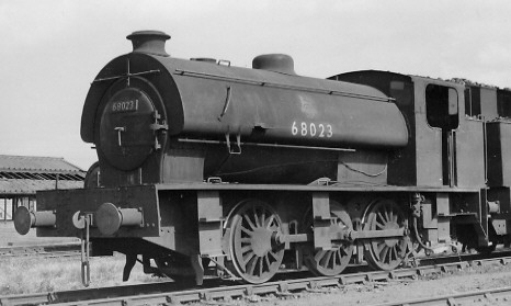 J94 No. 68023 at Newport in 1957 (PH.Groom)