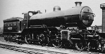Gresley K1 No. 4633 at Colwick shed, in August 1926