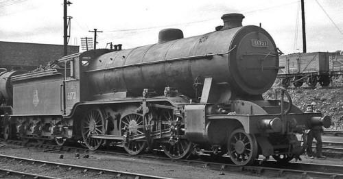 Gresley K2/1 No. 61721 at Dunfermline in 1959 (M.Peirson)
