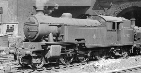 Thompson L1 No. 67773 with lubricator visible, at Kings Cross in 1959 (PH.Groom)