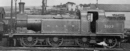 Class N12 No. 3130 (LNER 2484); with original domeless boiler in H&BR livery but NER number