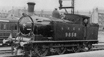 Class N14 No. 9858 at Cowlairs in 1928