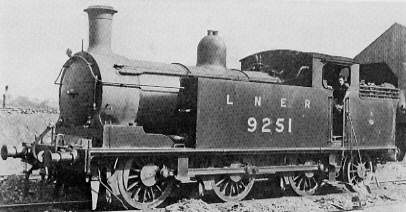 Class N15/2 No. 9251 at Eastfield shed in 1927