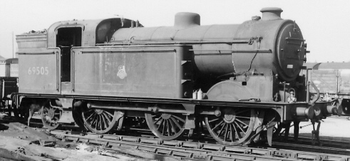 Class N2 No. 69505 at Grantham with condensing gear removed (PH.Groom)