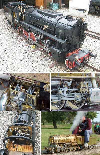 1/8th scale 7.25in gauge live steam S160, built by Mr Luciano Vigentini