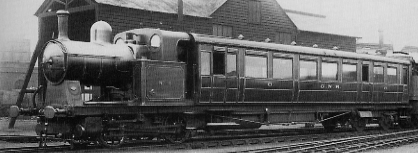 Kitson-built GNR Rail Motor No. 6 at Kings Cross shed in 1924