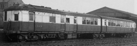 Diagram 99 and 100 twin-coach articulated Sentinel Railcar No. 2291 Phenomena, at South Blyth