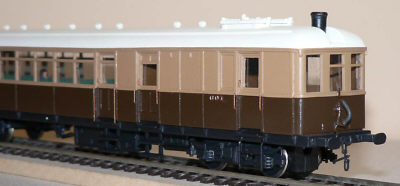 CLC Railcar No. 601 built with NuCast kit and a Black Beetle power bogie (Morgan Gilbert)