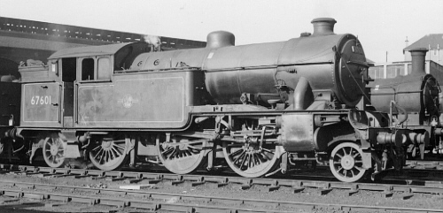 Gresley V1 No. 67601, Cowlairs banker at Eastfield in 1960 (PH Groom)